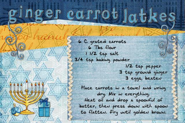 Ginger carrot latkes