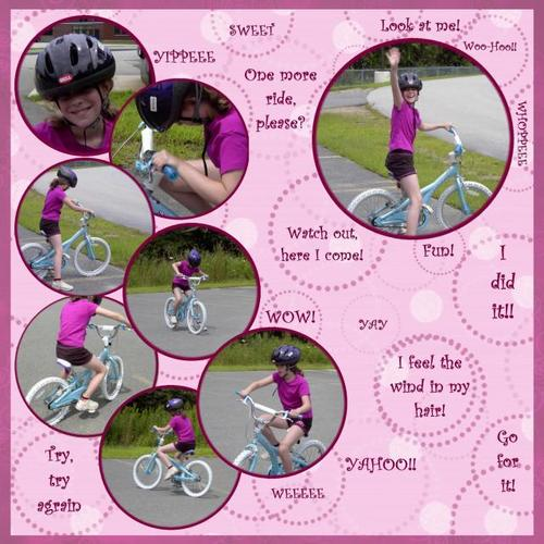Learning to ride a bike 2