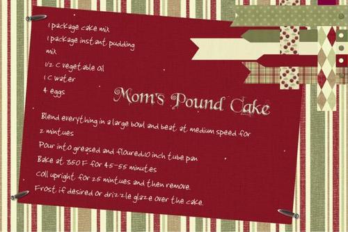 Pound Cake card