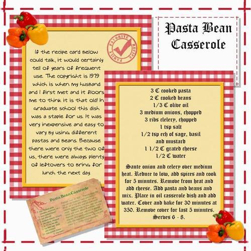 Pasta Bean Casserole
